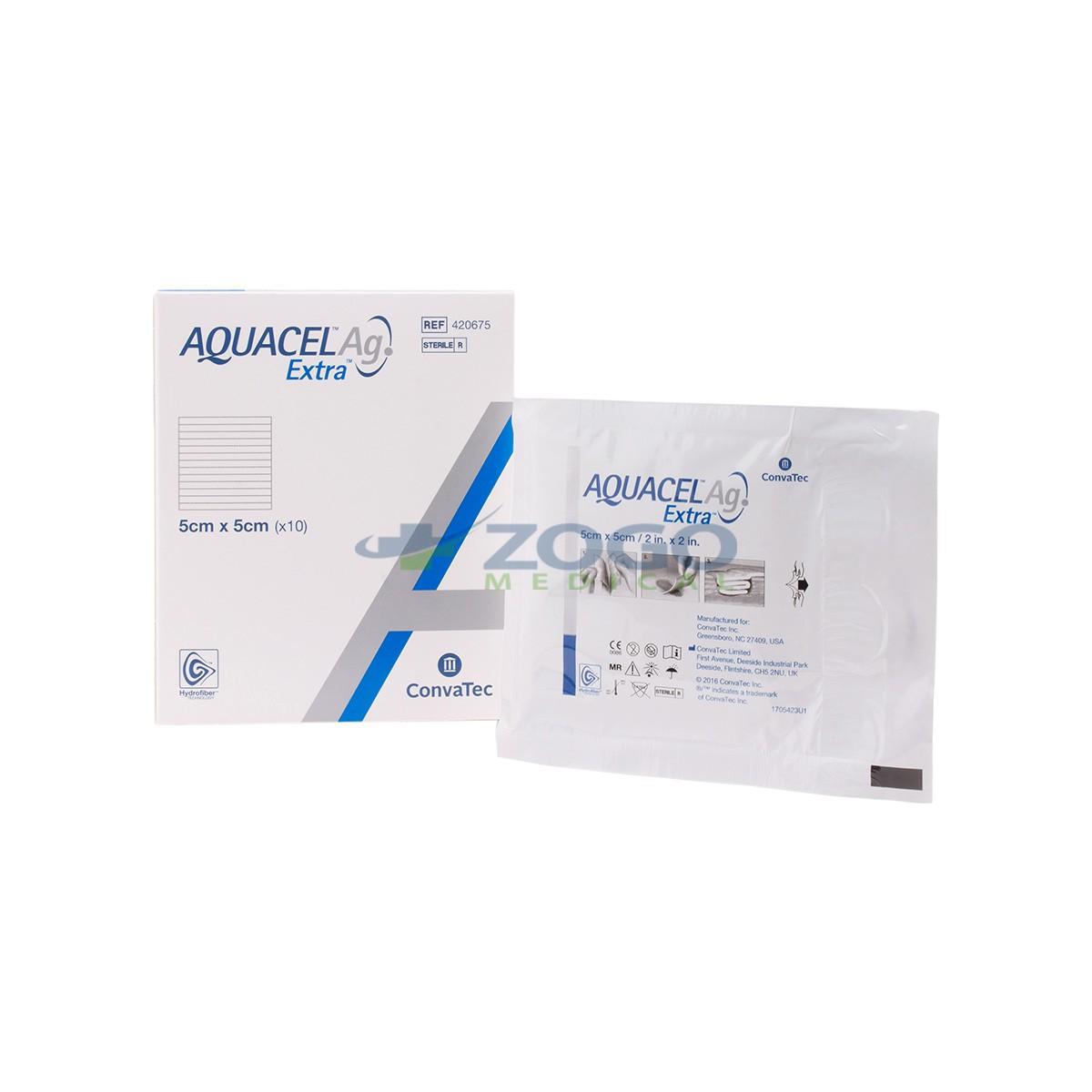 Aquacel Ag Hydrofiber Dressing W Silver 2 X 2 Box Of 10 Ref